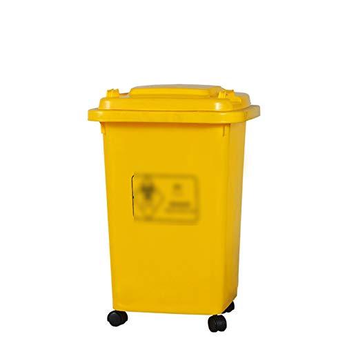 CSQ- Clasificación De Bote De Basura Con Ruedas, Bote De Basura Pesado De Alta Capacidad Cubo De Reciclaje De Basura Al Aire Libre Multifuncional Para La Escuela De Fábrica(Color:segundo,Size:50L)