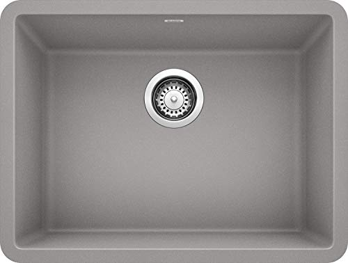BLANCO, Metallic Gray 522413 PRECIS SILGRANIT Single Bowl Undermount Kitchen Sink