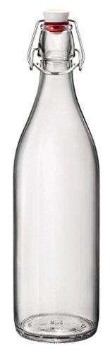 Rocco Bormioli Jar met kurk fles 0,5 liter, glas, transparant, 6,5 x 6,5 x 10,5 cm