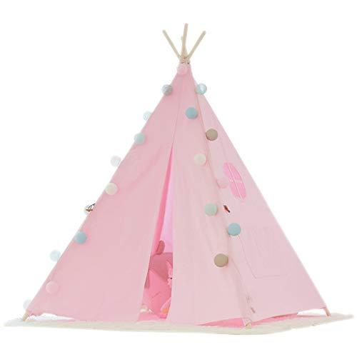 XZGang Indio tienda al aire libre, fondo Fotografía de Niños Niños padres e hijos la carpa infantil Rosa cuento Carpa, Tipi indio for niñas Espacio infantil ( Color : Pink , Size : 120*120*160CM )