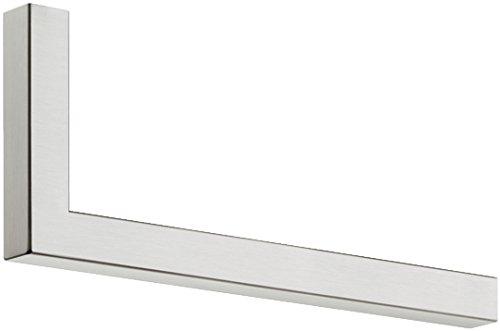 Moderne Wandgarderobe Paneel & Flur - H7005 Garderobenbügel Edelstahl Garderoben-Stange L-Form | Länge 300 mm | Kleiderbügelhalter für Wand & Boden-Montage | MADE IN GERMANY | 1 Stück - Aufhängung