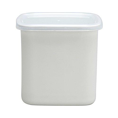 野田琺瑯 ホワイトシリーズ 保存容器 スクウェアL シール蓋付 日本製 WS-L