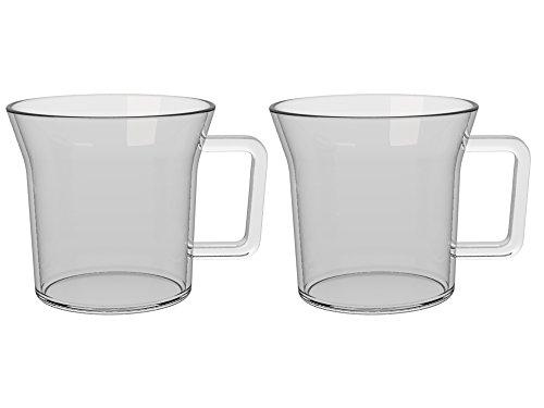 La Cafetière Healthy Living Lot de 2 tasses à café isotherme en verre 300 ml, Verre, transparent, Taille M