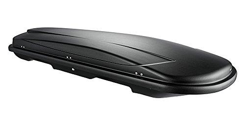 VDP Dachbox Xtreme 500 Black schwarz universal Dachkoffer Autokoffer Reise, Camping abschließbar 500 Liter