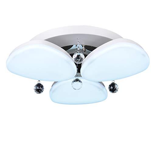 umei Montage di flusso luce Ambiente Vetro LED lampada 220–240V di luce Bianco caldo/Bianco Fonte di luce LED compresa dimensioni suggerito 5–M2 bianco