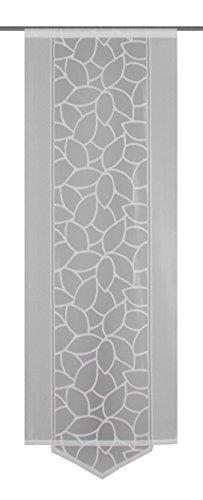 Home Fashion Schiebevorhang, Polyester, Weiß, 145 x 57 cm