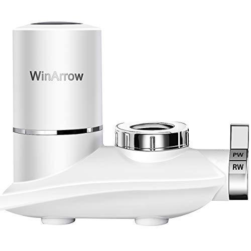 WinArrow Filtro Agua para Grifo, Sistema de Filtro de Cocina Filtro de Grifo con Cartucho de Filtro de Cerámica Lavable Elimina el Cloro Pesticidas y Metal Pesado (WA790)