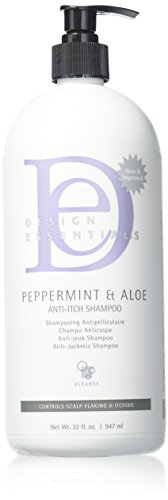 Design Essentials & Aloe Therapeutics AntiItch Shampoo Control Sclap Flaking & Itching, Peppermint, 32 Fl Oz