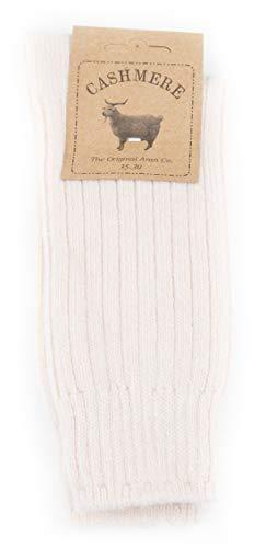 Womens Fine Cashmere and Merino Wool Super Soft and Warm Winter Fluffy Mid-Calf Socks (Beige)