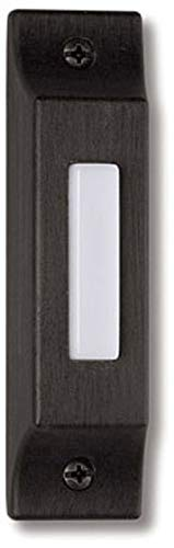 "Craftmade BSCB-AZ Die-Cast Builder's Surface Mount Lighted Doorbell LED Push Button, Antique Bronze (3.75""H x 0.93""W)"