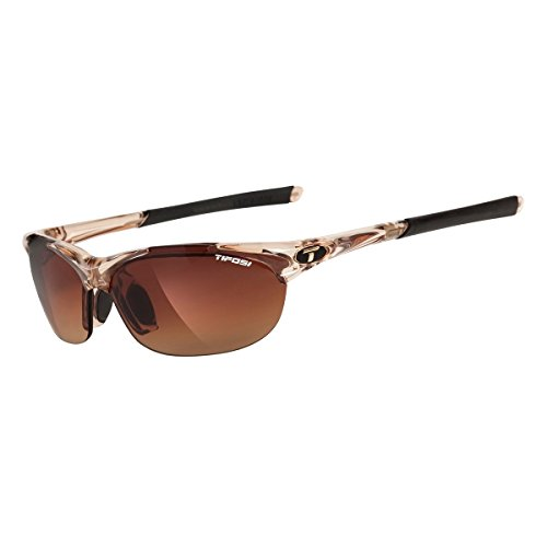 Tifosi Womens Wisp T-I905 Dual lens Sunglasses,Crystal Brown Frame/Brown Gradient, Ac Red, and Clear Lens,One Size