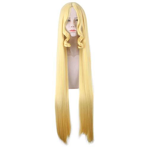 Cosplay Longue Perruque Blonde, Adaptée Aux Occasions Spéciales, Fêtes De Noël, Mascarades D'halloween, Fêtes De Cosplay, Mascarades, Expositions D'anime,D'or