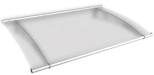 Schulte Pultvordach LT-Line, 150 x 95 cm, 4 mm Acrylglas satiniert, Wandhalterung Edelstahl V2a matt gebürstet, Vordach Haustür Überdachung, V1015-11-20