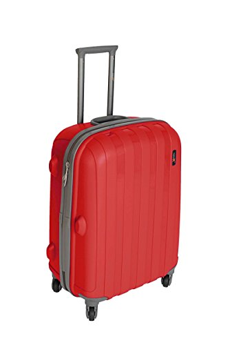 Luggage X - 30' (77cm) Hard Shell Red Polypropylene Trolley Suitcase