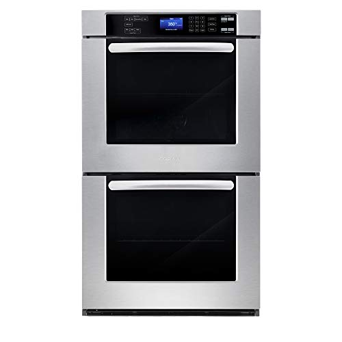 Cosmo COS-30EDWC 30 in. Electric Double Wall Oven with 5 cu. ft. Capacity, Turbo True European Convection, 7 Cooking…