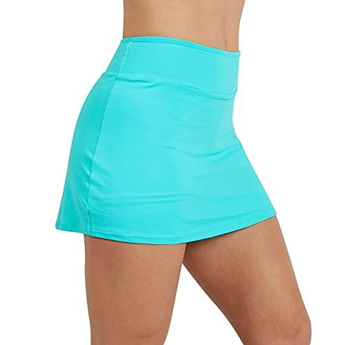NEON STYLE - Falda de Pádel y Tenis Lidia | Color Azul | Talla M | Falda Pantalón de Lycra, Elástica y Cómoda | para Mujeres