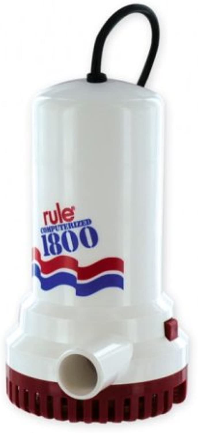 Rule A53S24 Marine Rule 1800 Submersible Sump Utility Pump with 24Foot Cord (1800GPH, 110Volt)