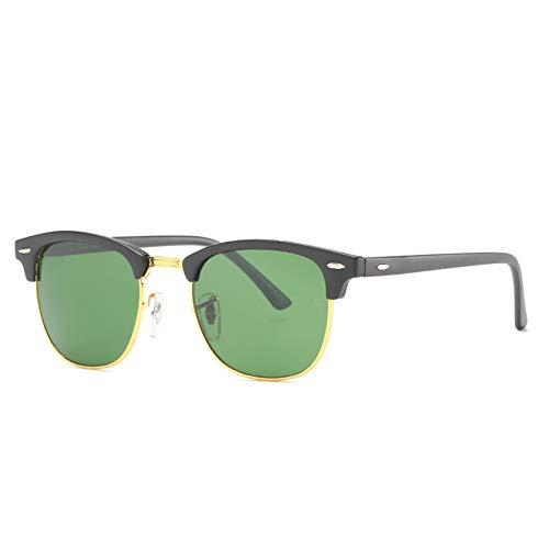 HDSJJD Hombres Y Mujeres Moda Gafas De Sol Polarizadas Retro Medio Marco Conducción Clásica Al Aire Libre UV400,B