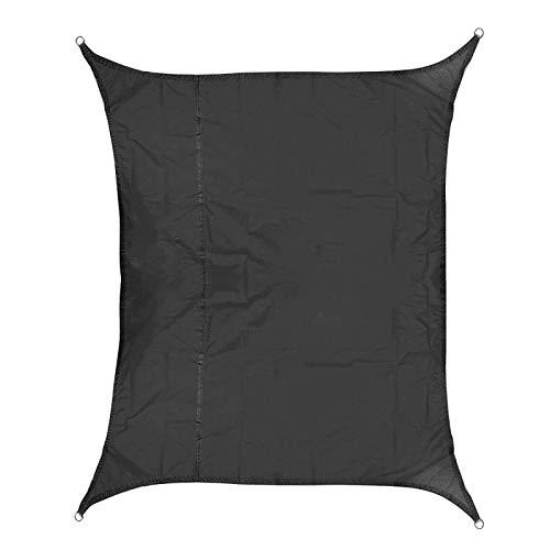BESTSOON Toldo para jardín de poliéster Oxford 420D, impermeable, toldo para coche, protección para plantas (tamaño: 2 x 3 m), color negro