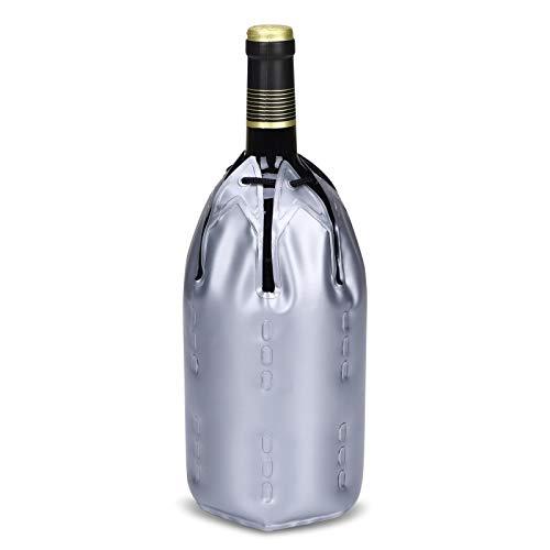 KASEEMI Refrigeratore Vino Champagne Attivo,Glacette per Vino o di Champagne,Refrigeratore per Bottiglie Vino,Raffredda Bottiglie,Glassette Vino Refrigerante per Bottiglie di Vino e Champagne e Bere