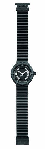 Orologio HIP HOP per donna CRYSTAL con cinturino in silicone, glam, movimento SOLO TEMPO - 3H QUARZO