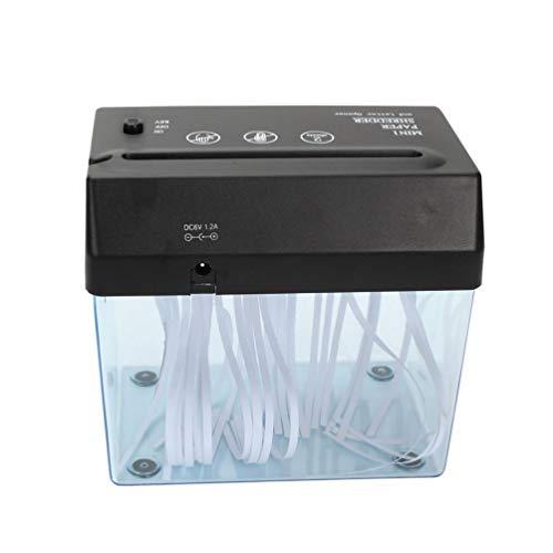 Tomaibaby Trituradora de Papel Compacta Trituradora de Documentos Mini Herramienta de Corte USB para Escritorio Oficina en Casa Y Suministros de Enseñanza-