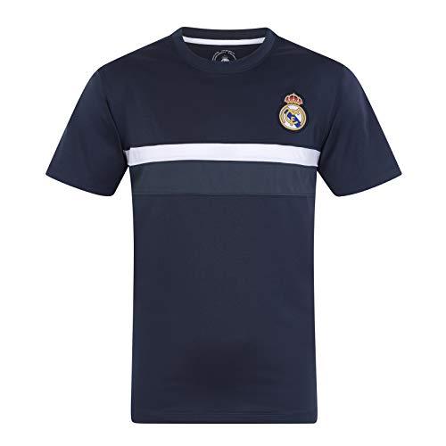 Real Madrid - Herren Trainingstrikot aus Polyester - Offizielles Merchandise - Schwarz - M