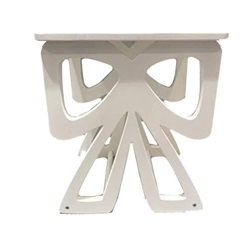 NAN Table de Papillon en Bois pour Enfants Top Home Solutions, Lampe à Poser Ronde, Table Chambre à Coucher Enfants Filles (Blanc)