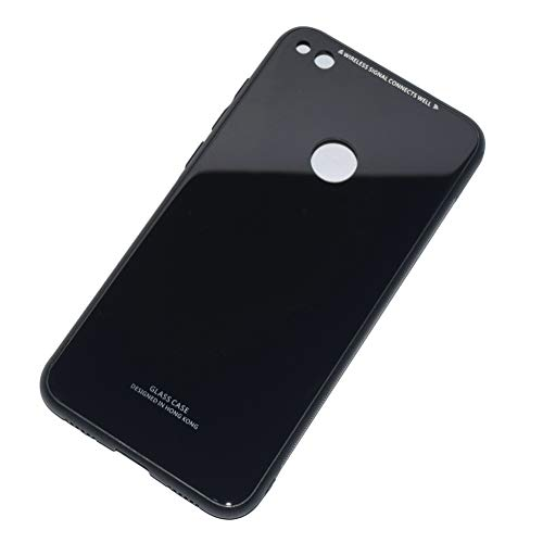 Kepuch Quartz Hülle für Huawei P8 Lite 2017/Nova Lite/GR3 2017/Honor 8 Lite - Weiches TPU + Rückseite Aus Gehärtetem Glas Hüllen Case für Huawei P8 Lite 2017/Nova Lite/GR3 2017/Honor 8 Lite - Schwarz