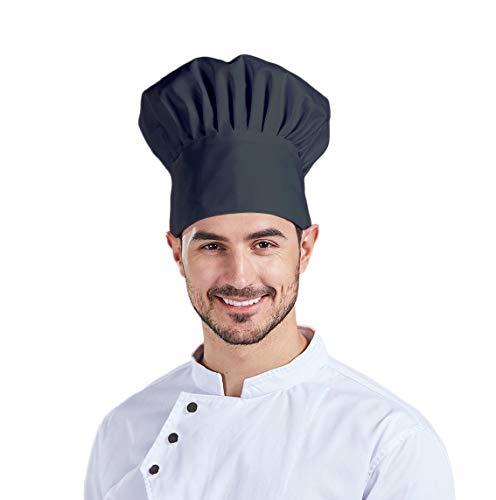 Nanxson 3pcs Unisex Chef Hat Elastic Chef Cap Kitchen Baking Cooking Hat for Men Women CF9035 (Black3, One Size)