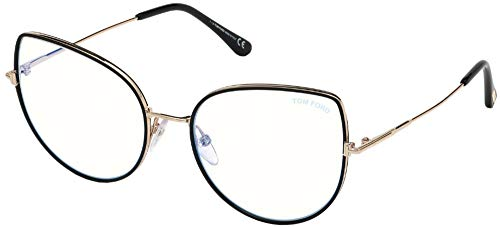 Tom Ford FT5614-B BLUE BLOCK BLACK 55/19/140 Dames Brilmonturen