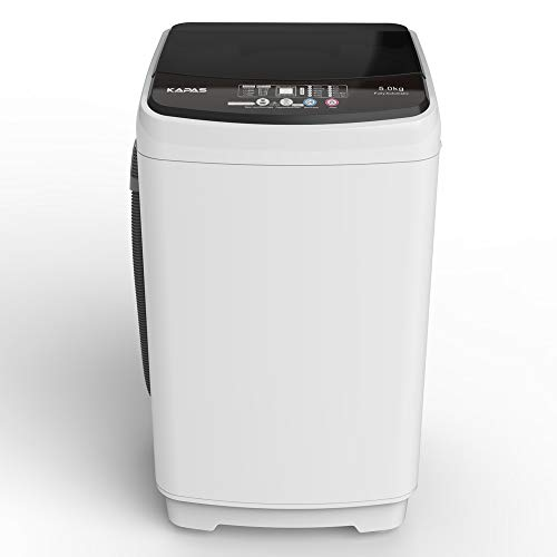 Compact Washing Machine, KAPAS Fully Automatic 2-in-1 Washer & Air Spin Drying Machine with 11 LBS Capacity Top Load Tub Washer Built-in Drain Pump and Long Hose, INCLUDE FAUCET ADAPTER (Grey / 11 LBS)
