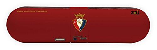 Ziu Smart Items Club Atlético Osasuna - Altavoz Bluetooth (Potencia de sonido 2x3W) color rojo / negro