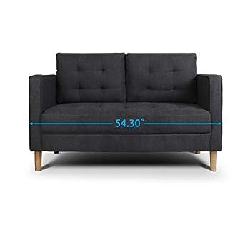 AODAILIHB Modern Soft Cloth Tufted Cushion Loveseat Sofa Small Space Configurable Couch 54.3