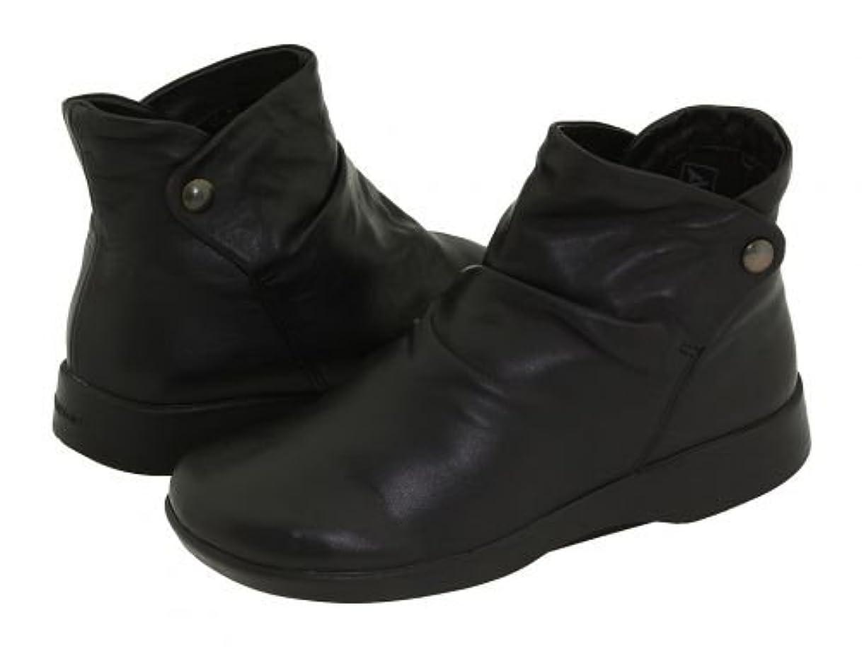 キモいしょっぱい滞在Arcopedico(アルコペディコ) レディース 女性用 シューズ 靴 ブーツ アンクルブーツ ショート N42 - Black Leather [並行輸入品]