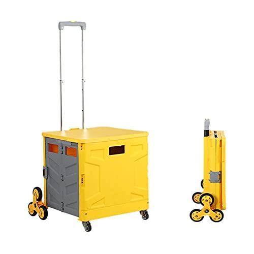 Carros de servicios públicos Carrito de compras plegable de moda creativa Caja de almacenamiento portátil de picnic al aire libre Caja de almacenamiento para el hogar Trolley Trolley Trolley Trolley C