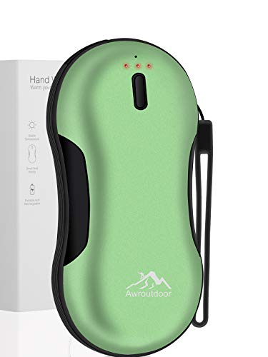 Awroutdoor Handwärmer Schnellladung USB, 9000mAh PD wiederaufladbarer Powerbank, Elektrische Tragbare Taschenwärmer , Ideales Wintergeschenk für Skifahren, Klettern, Wandern