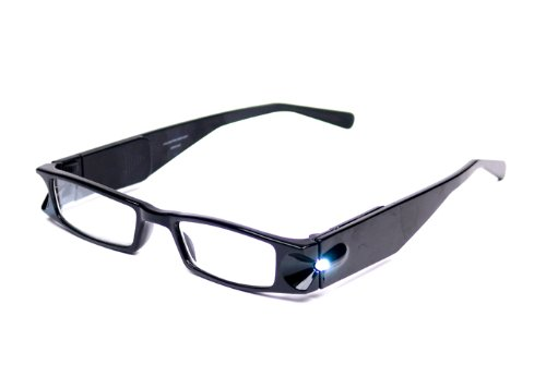 Foster Grant Black Light Specs Lighted Reading Glasses +2.00