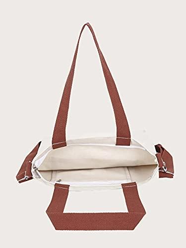 Glowic Figure Graphic Tote Bag(WBAG-13), WHITE