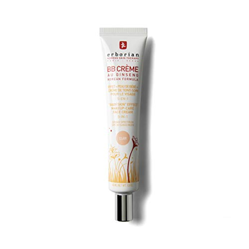"""Erborian - BB Crème au Ginseng - Teinte Claire - Soin 5-en-1 pour le Visage, Effet """"Peau de Bébé"""" - SPF 20 - Soin du Visage Coréen - 45ml"""