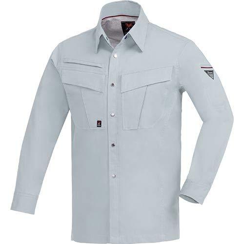 [ジーベック] トリプルファイブ長袖シャツ 大きいサイズ 22/シルバーグレー 3Lサイズ 1653