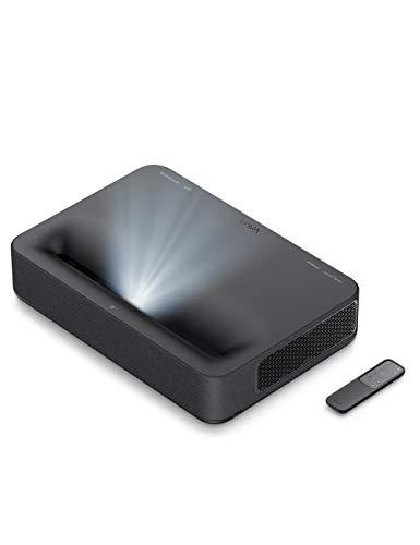 VAVA 4K UHD Laser TV Home Theatre Projector | Bright 2500 ANSI Lumens | Ultra Short Throw | HDR10 | Built-in Harman Kardon Sound Bar | ALPD 3.0 | Smart Android System (Black) (VA-LT002)