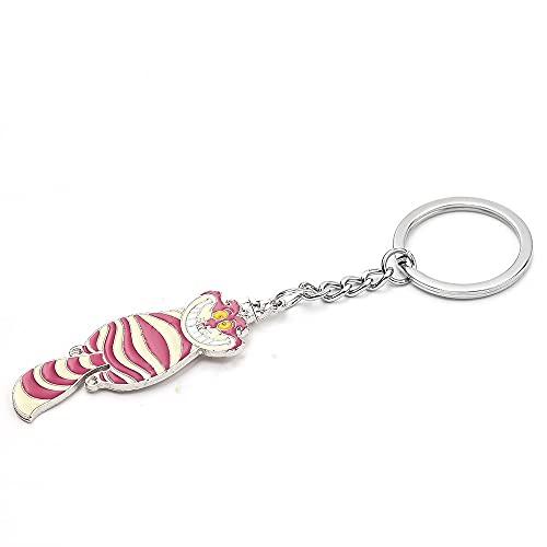 rickie_cao Einzigartiger Schmuck Schlüsselbund Alice im Wunderland Cheshire Cat Anhänger Schlüsselanhänger Cartoon Schlüsselanhänger Zubehör