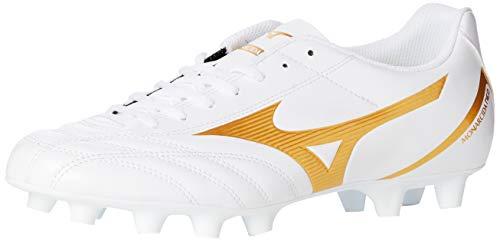 Mizuno Monarcida Neo Select, Scarpe da Calcio Uomo, Bianco (White/Gold 50), 46 EU