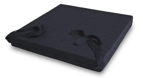 MSS® VISCOELASTISCHES DEKUBITUS SITZKISSEN ROLLSTUHLKISSEN INCL. BAUMWOLLBEZUG SCHWARZ 40x40x5 cm