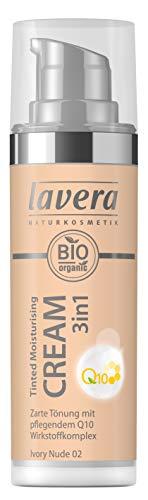 lavera Tinted Moisturising Cream 3in1 Q10 -Ivory Nude- Getönte Feuchtigkeitscreme ∙ Hautpflege und Farbe ∙ Vegan Naturkosmetik Natural Make-up Bio Pflanzenwirkstoffe 100{fb4d54ec9efa2e4d5635b6cd4248d56e7fb79e1c3b67405e14a5f80f456c0b5c} natürlich (1x 30ml)