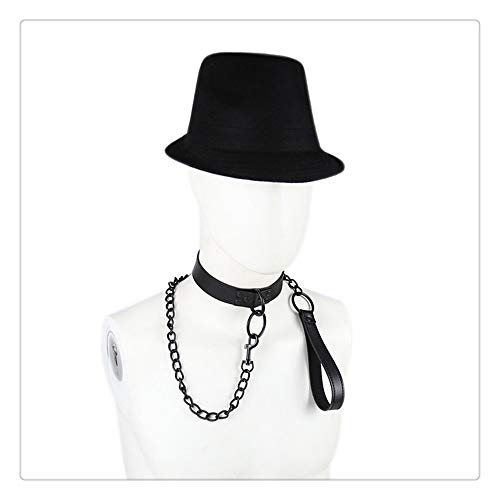 Z-one 1 Cat Butterfly Bow Tie - Weiches Leder - Echtes Leder Punk Rock Gothic Emo Choker Collier