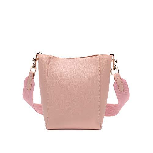 Europäische Und Amerikanische Breite Schulter Eimer Tasche,Trompete,Pink