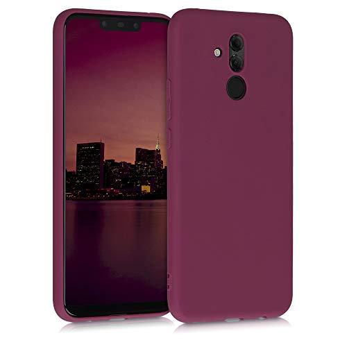 kwmobile Carcasa para Huawei Mate 20 Lite - Funda para móvil en TPU Silicona - Protector Trasero en Violeta Burdeos