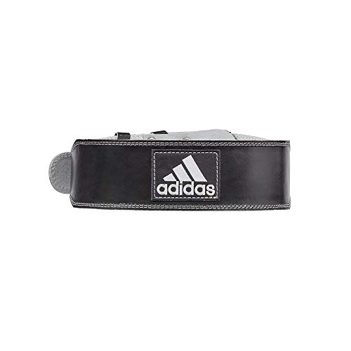 Adidas Leather Weight Lifting Belt, Black, Small/ Medium